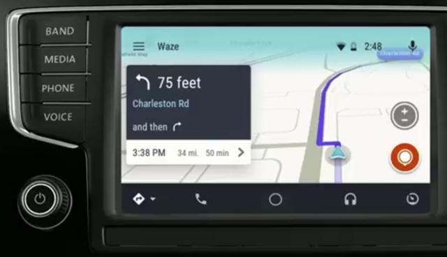 waze kini tersedia di mobil dengan sistem android auto selular id. Black Bedroom Furniture Sets. Home Design Ideas