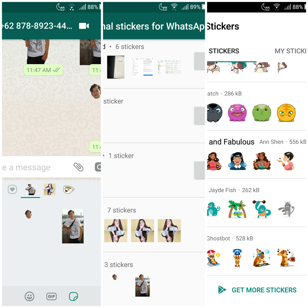 Cara add stiker di WhatsApp