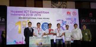 Tim Huawei bersama Menkominfo dan pemenang Huawei ICT Competition 2018