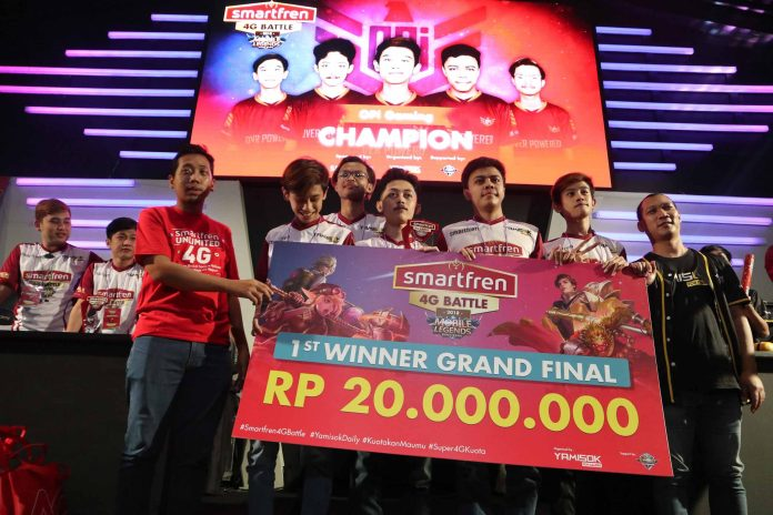Opi Gaming Sang Juara Smartfren 4G Battle