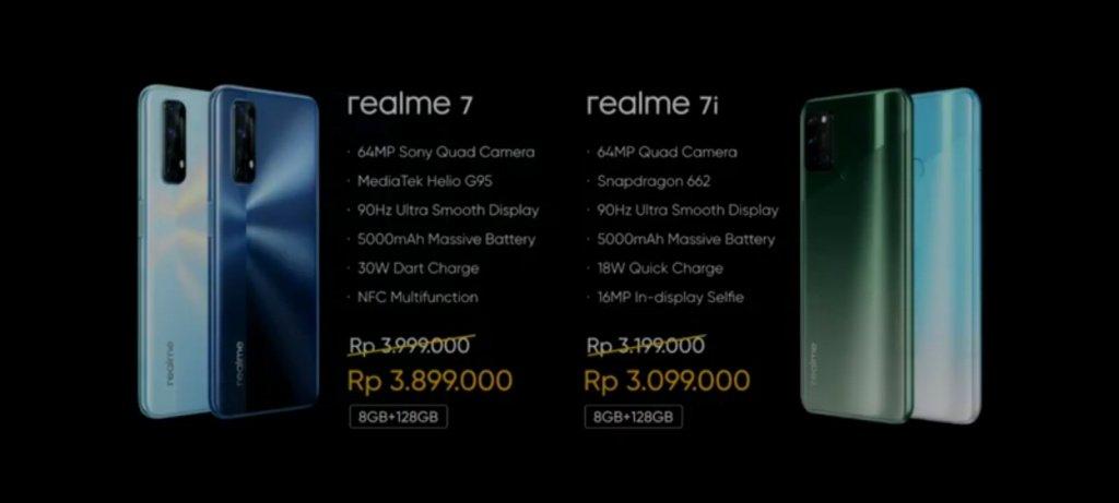 Harga Realme 7 dan Realme 7i